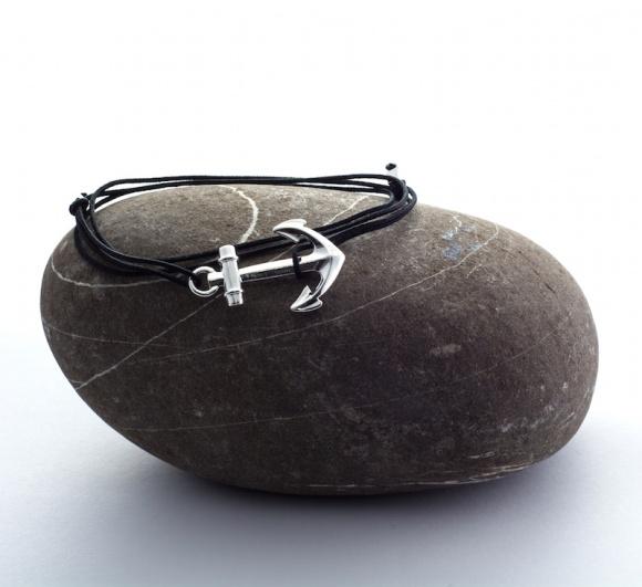 bracelet ruban rouge bijoux marseille amiral hook captain  ancre hameçon créateur france